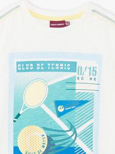 T-shirt blanc imprimé  ZEBILAGE / 21E3PGO1TMC001