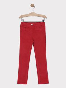 Pantalon velours rose framboise fille SAVELETTE 1 / 19H2PFH4PAN308