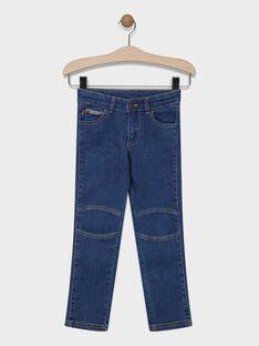 Jeans en denim bleu garçon SAMOJAGE 2 / 19H3PG92JEAP270