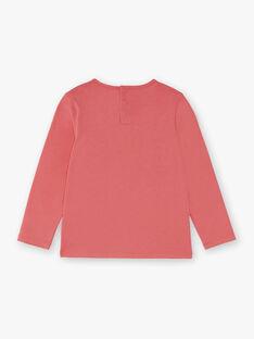 T-shirt manches longues rose détail noeud enfant fille ZLABETTE 2 / 21E2PFK3TMLD300