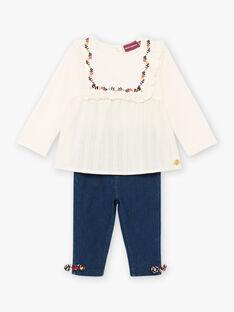 Ensemble blouse et legging bébé fille BAEVA / 21H1BF51ENS001