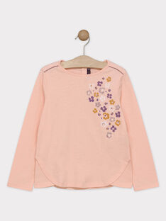 Tee Shirt Manches Longues Rose SOLIMETTE / 19H2PF63TMLD317