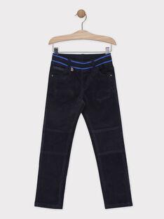 Pantalon bleu marine en velours garçon SISLIMAGE 1 / 19H3PGH1PAN070