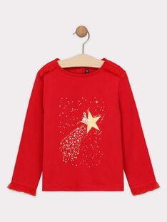 Tee-shirt Noël manches longues tulle fille SEUVALETTE / 19H2PFP1TMLF510