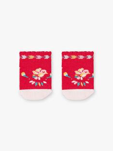Chaussettes basses framboise et rose pâle bébé fille TASUCRE / 20E4BFQ1SOBF510