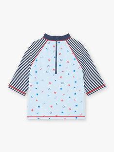 Tee-shirt de bain anti UV bleu imprimé animaux marins enfant garçon ZYUVAGE / 21E4PGR2TUVC218