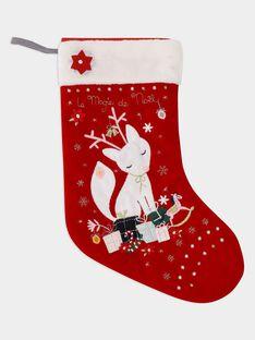 Chaussette décorative de noël rouge  fille SOMAETTE / 19H4PFQ1ACD511