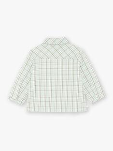 Chemise à carreaux fantaisie vert et beige ZAADDY / 21E1BG71CHM009