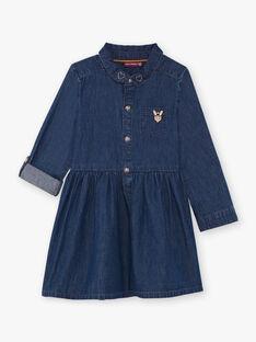 Robe manches longues en jean enfant fille BIDENETTE / 21H2PF52ROBP274