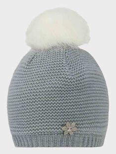 Bonnet point mousse gris perle fille SUIDAFETTE / 19H4PFN2BON904