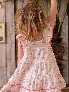 Robe blanche imprimé Palmier ZYPANETTE / 21E2PFU2ROB000
