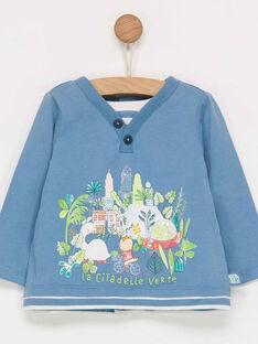 Tee shirt manches longues bleu  PAMARC / 18H1BGH1TML219