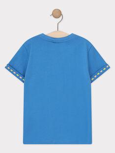 Tee-shirt manches courtes bleu garçon  TUMAGE / 20E3PGX1TMCC232