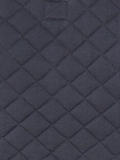 Gilet zippé gris anthracite en jersey matelassé ZACESAR / 21E1BG91GILJ912