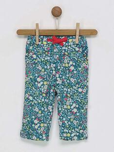 Pantalon vert à motifs RADANOU / 19E1BF61PANG618