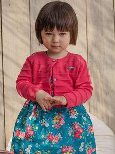 Gilet rose bébé fille TAVIVIANE / 20E1BFX1CARF507