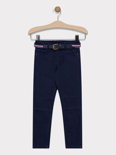 Pantalon bleu marine avec ceinture garçon SAMABAGE 1 / 19H3PG91PAN070