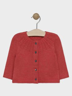Cardigan en tricot orange bébé fille  SALILOU / 19H1BFC1CARE406