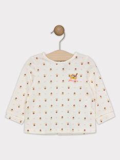 T-shirt écru imprimé bébé fille SAGISELE / 19H1BF61TML001