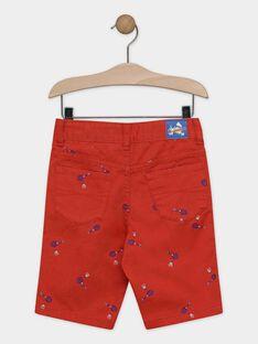 Bermuda rouge brodé garçon  TEWOLAGE / 20E3PGH4BERF508