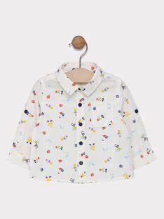 Baby boys' poplin shirt with seagull print SAFRANSISCO / 19H1BG41CHM001