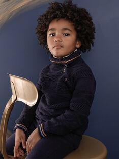 Pull bleu en tricot fantaisie VOBAGE / 20H3PGY1PUL713