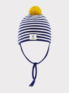 Bonnet rayé bleu et blanc bébé garçon SAFIRMIN / 19H4BG41BONC214