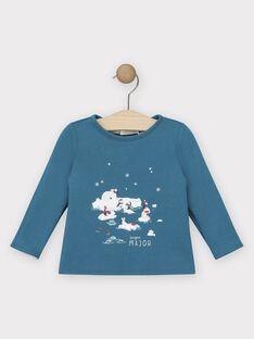 Lagoon blue T-shirt SATOBY / 19H1BGN1TML210