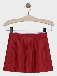 Jupe plissée rose framboise fille SAROTETTE 2 / 19H2PFD3JUP308