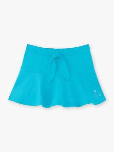Jupe bleue enfant fille ZLUCETTE2 / 21E2PFL2JUP714