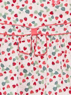 Robe en satin rose pâle imprimée ZAAURELIE / 21E1BFM1ROB301
