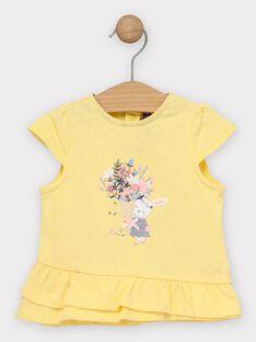 T-shirt jaune pâle bébé fille  TAORELIE / 20E1BFO1TMC103