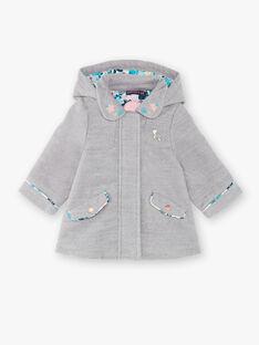 Manteau gris chiné en feutre VIJULIE / 20H1BFI2MAN943