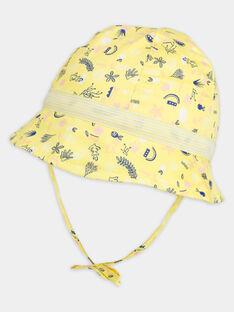 Chapeau jaune avec motifs NAFEE / 18E4BFF1CHA010
