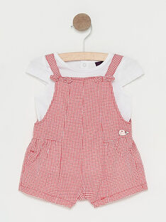 Ensemble à carreaux rouge bébé fille  TATILIA / 20E1BFW1ENSF503