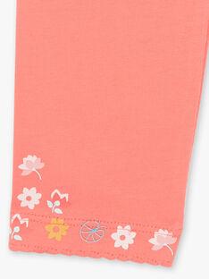 Caleçon uni corail finition fleurs ZEBIETTE / 21E4PFI1CAL404