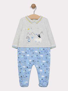 Grenouillere gris chiné bébé garçon SEPHARELL / 19H5BG51GRE943