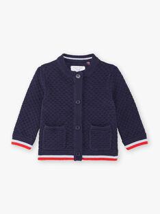 Gilet bleu marine bébé garçon ZAOUSMAN / 21E1BGT2GILC214