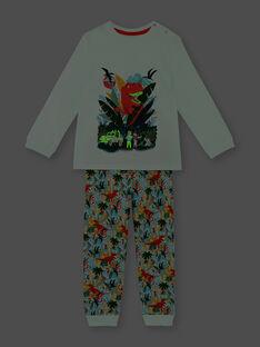 Pyjama dinosaure en jersey  ZEBRANCHAGE / 21E5PG11PYJ614