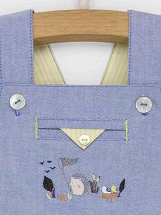 Salopette courte bleu ciel RALOUIS / 19E1BGF1SAC020