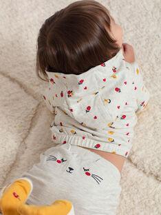 Pantalon de jogging beige chiné bébé fille BAEMELINE / 21H1BF51JGBA011