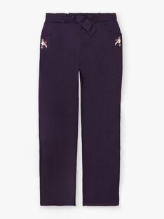 Pantalon violet avec broderie  VLIJOETTE / 20H2PFS1PAN718