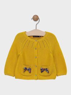 Yellow Cardigan SAELOISE / 19H1BF42CAR107