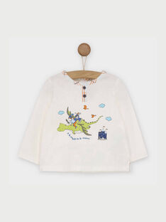 Tee shirt manches longues écru RAANAEL / 19E1BG21TML001