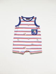 Combinaison courte bébé garçon imprimée   TODEVI / 20E1BGV2CBL001