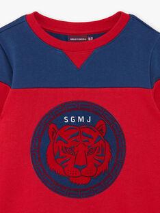 Sweat bicolore tête de tigre ZAGLAGE / 21E3PGI1SWE502
