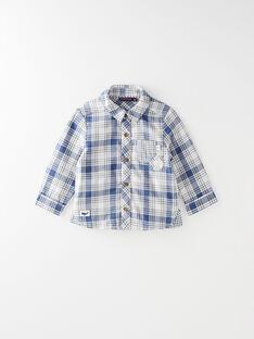 Chemise à carreaux bleu et beige  VAHARRY / 20H1BGL1CHMC201