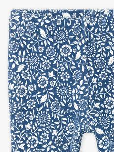 Legging bleu petrole imprimé fleuri bébé fille BAKIM / 21H4BFL1CAL715