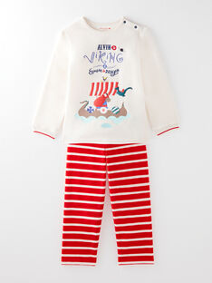 Pyjama beige chiné petit garçon  VISAGE / 20H5PG33PYJA011