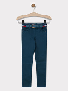 Pantalon vert avec ceinture garçon SAMABAGE 2 / 19H3PG96PAN608